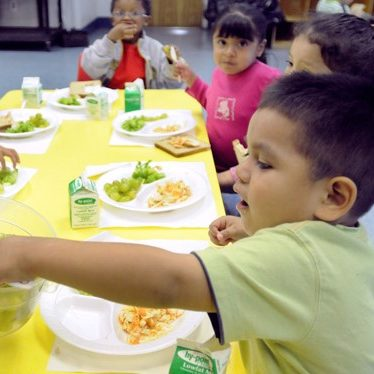 Providing education and financial reimbursement for daycare providers to ensure children have healthy meals.